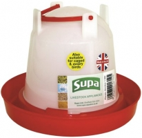 Plastic Poultry Drinker Red & White