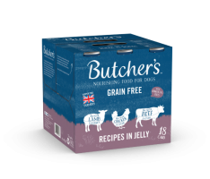 Butchers Cans Grain Free Recipes in Jelly 400g x 18